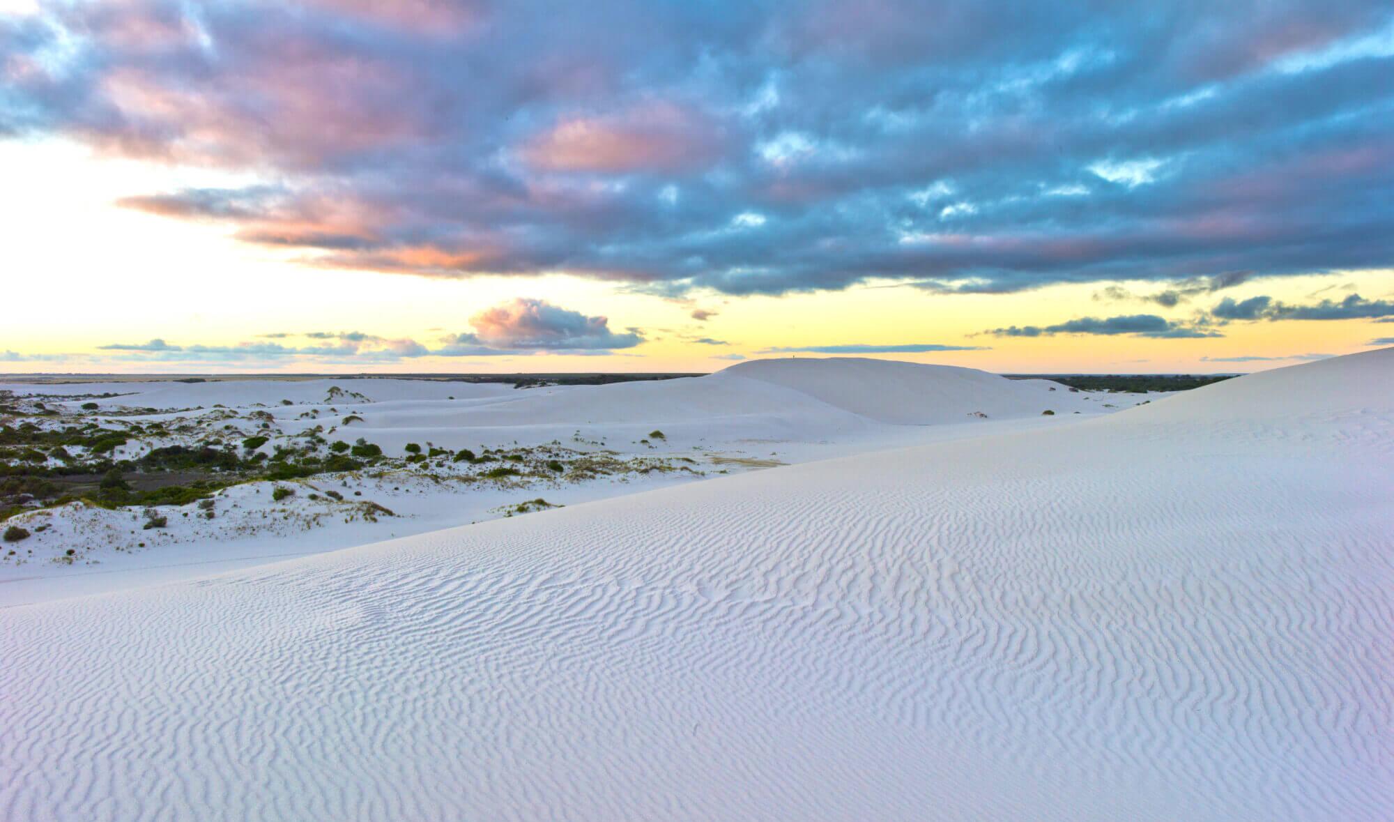 Sand dunes in Bremer Bay