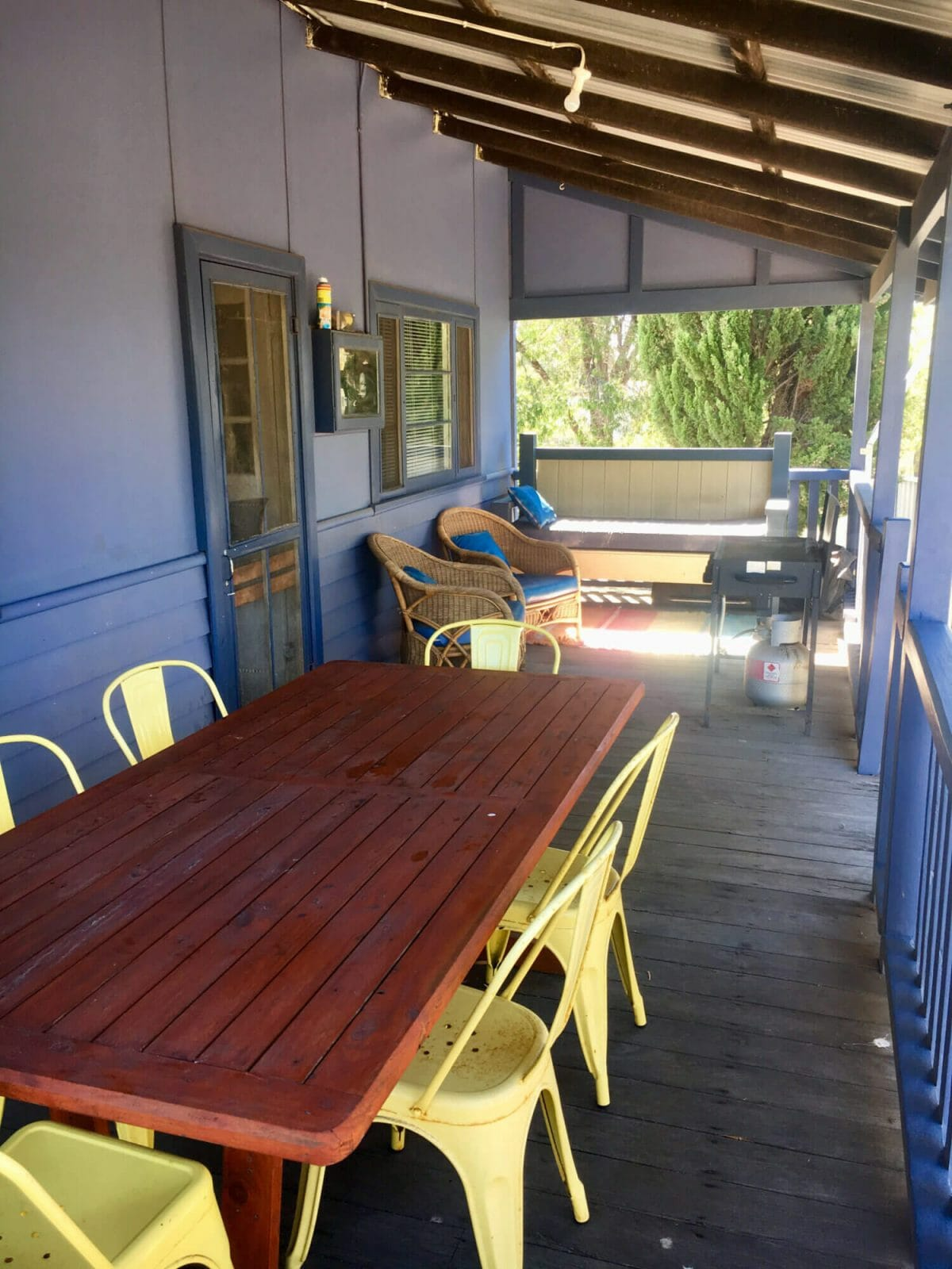 Weekender - Accommodation in Bremer Bay - 21 Barbara Street. Outdoor verandah features dining area, outdoor lounge area and BBQ